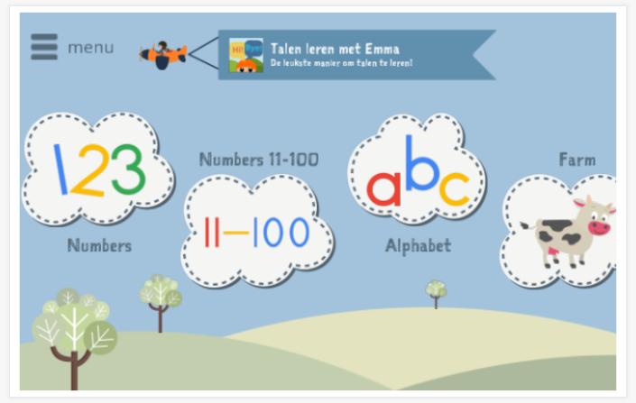 Zeer 🇺🇸 Kinderen Engels leren met Emma - App voor kleuters en peuters @FJ24
